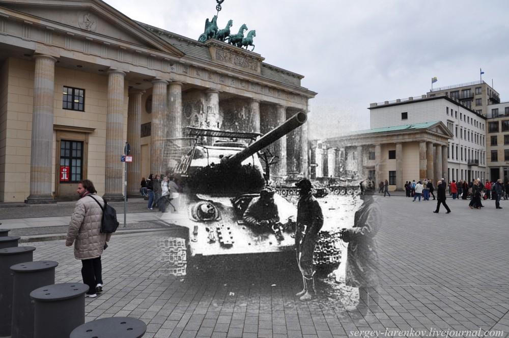 023.Берлин 1945-2010 Танк на Паризер платц у американского посольства.jpg