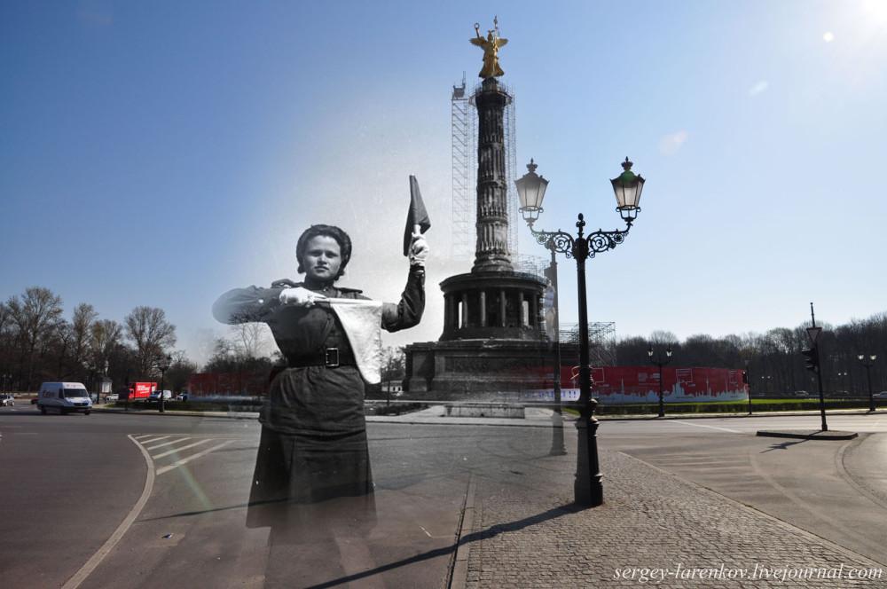 040.Берлин 1945-2010 Регулировщица у площади Звезды.jpg