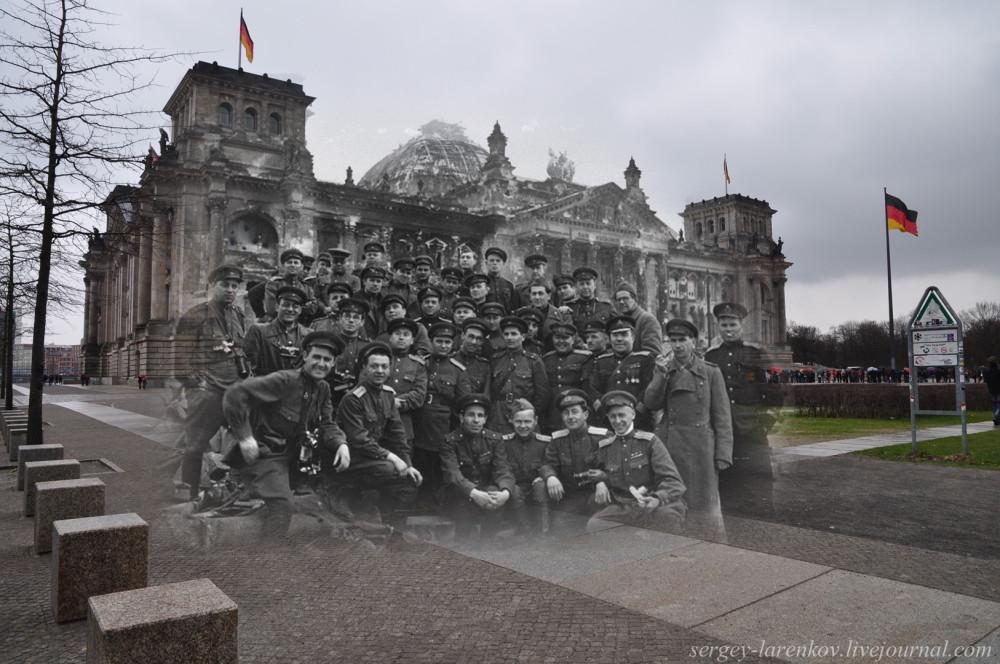 044.Берлин 1945-2010 Военные корреспонденты у Рейхстага.jpg