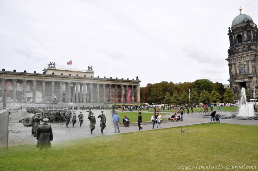 054.Берлин 1945-2014 Парад на площади Люсгартен - Lusgarten.jpg