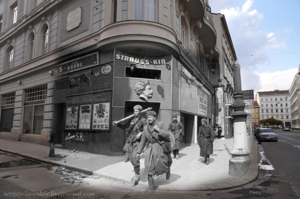 020.Вена 1945-2010 Минометный расчет на ул.Фаворитенштрассе.jpg