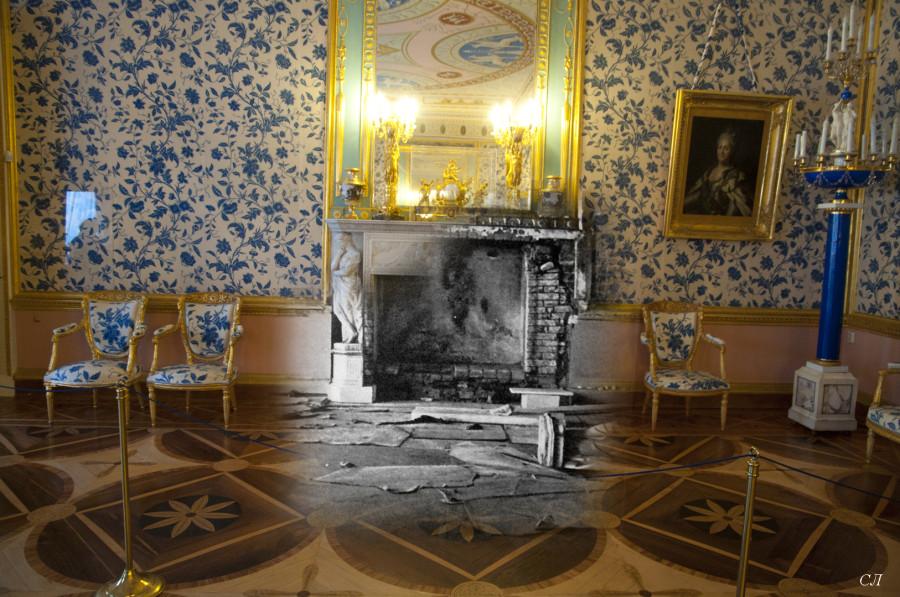 Екатерининский дворец. Голубая гостиная камин СЛ.jpg