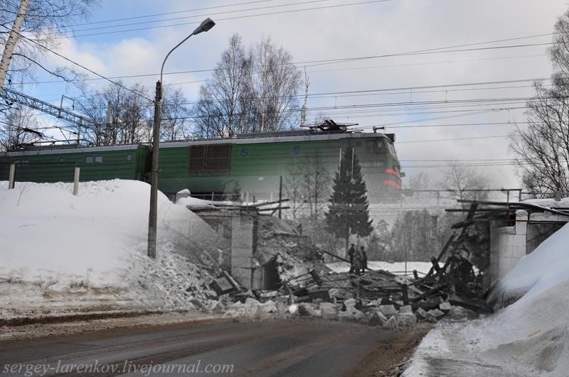 Терийоки / Зеленогорск, 1939/2011. Разрушенный железнодорожный мост. Soviet-Finnish War(1939-1940). Destroyed railway bridge in Terijoki / Zelenogorsk, 1939/2011