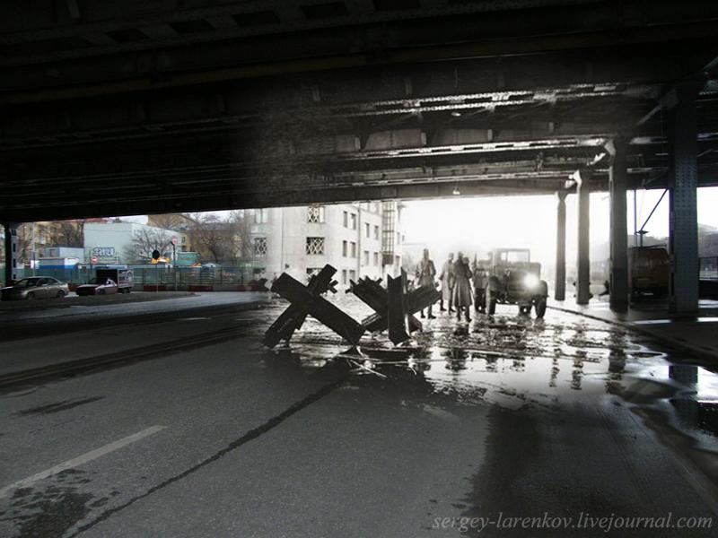 1941/2010 Москва. Большой Устьинский мост 1941/2010 Moscow