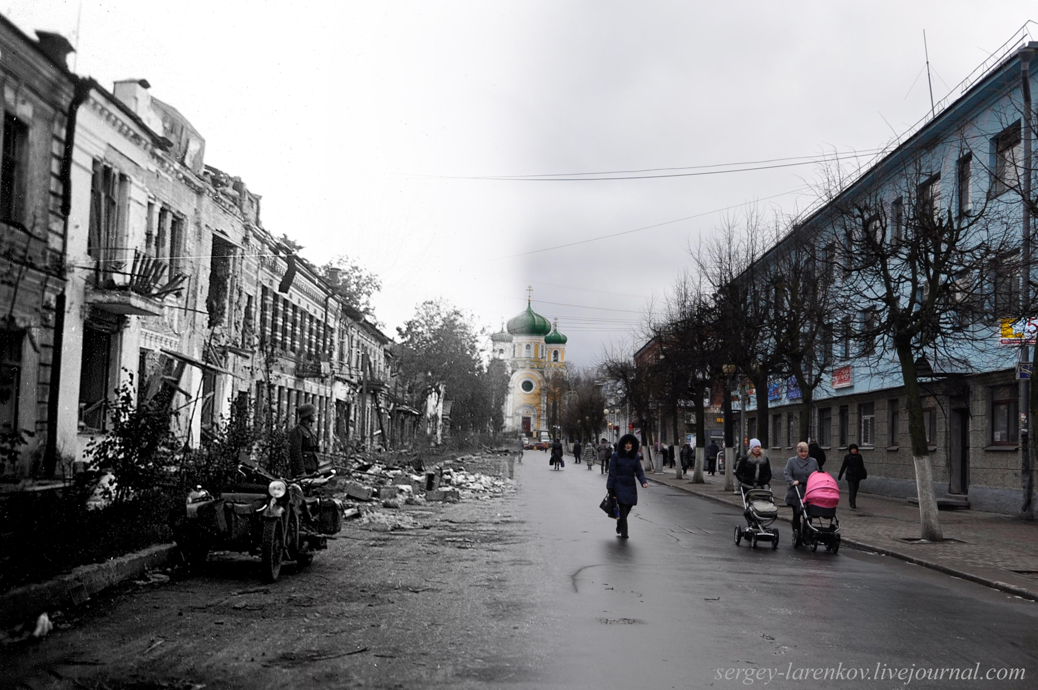 Гатчина (Красногвардейск) 1942-2011 Соборная улица Gatchina 1942-2011 Sobornaya Street