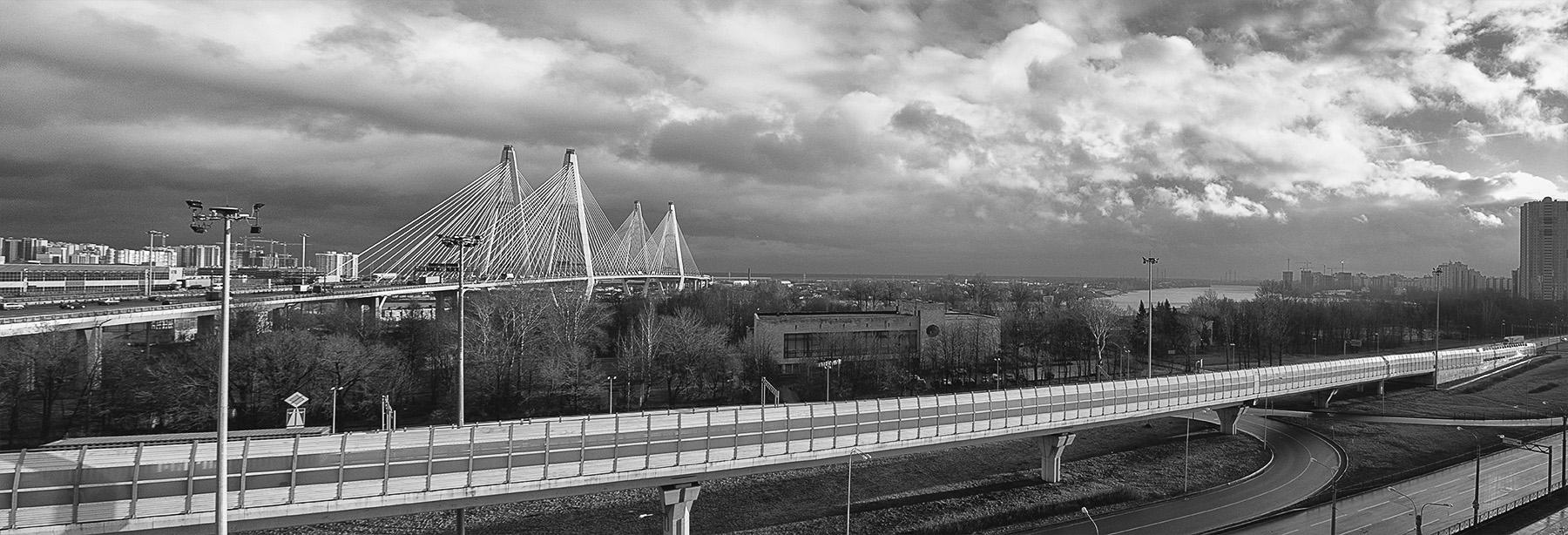 Панорама с Вантовым мостом