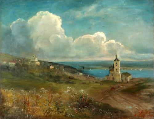 Уфа 19 век, художник Саврасов.