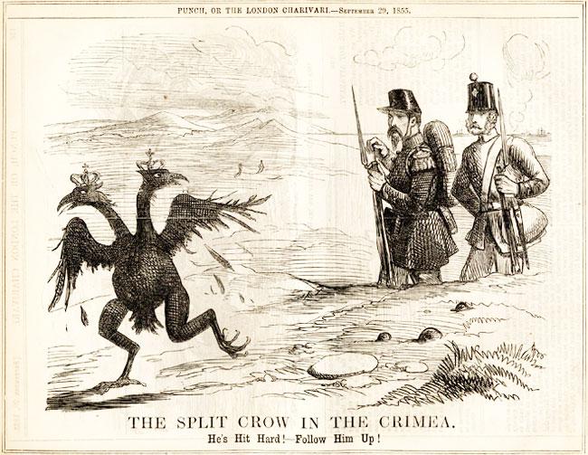 двуглвый орел бежит карикатура
