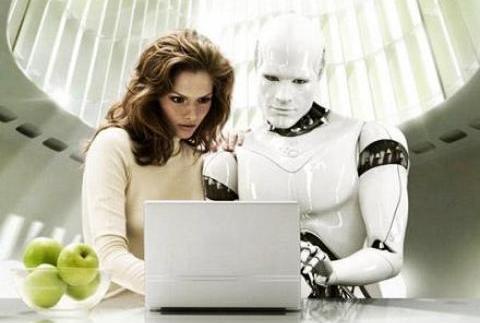 робот и женщина