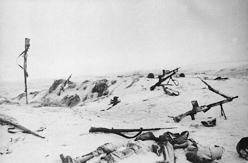 После боя в Подмосковье. Это позиции немецких войск
