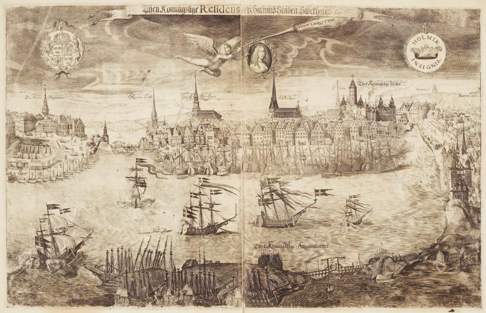 Utsikt_över_Stockholm_till_drottning_Kristinas_kröning_1650