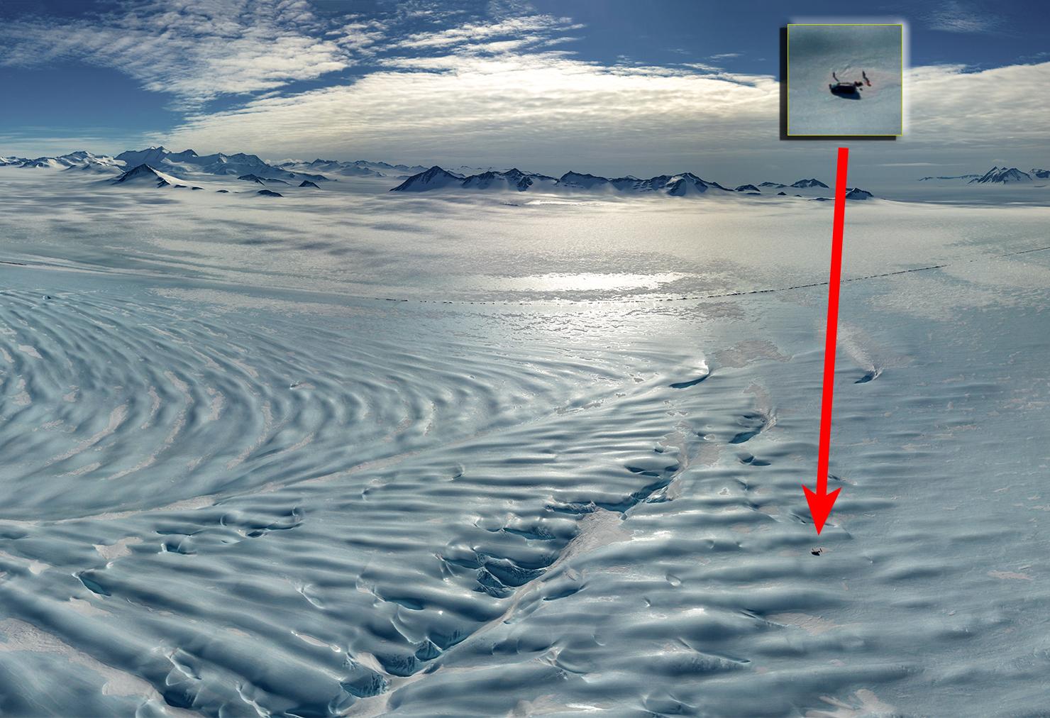 Реальные размеры антарктического ледника