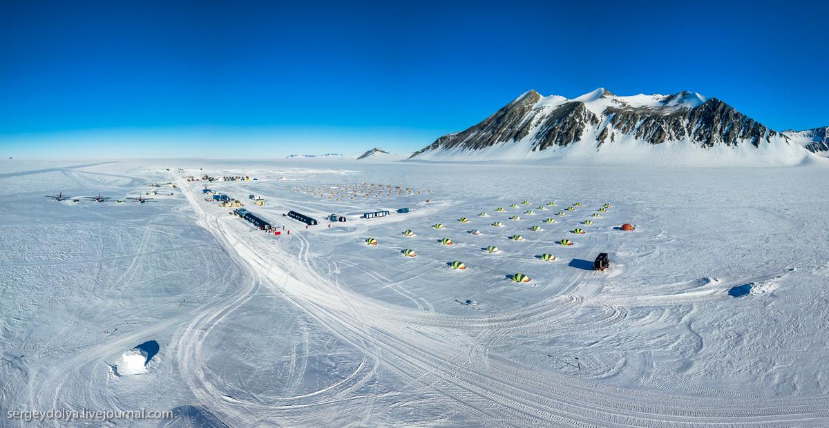 Палаточный лагерь в Антарктиде