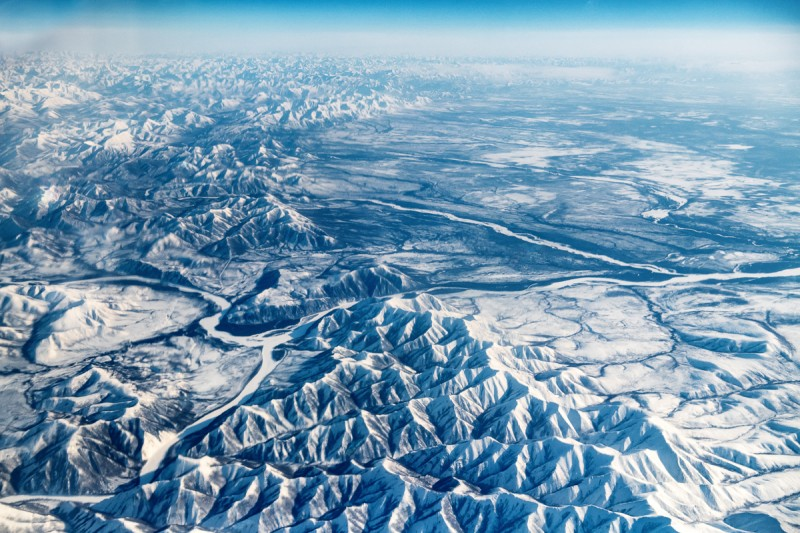 Мятые якутские горы