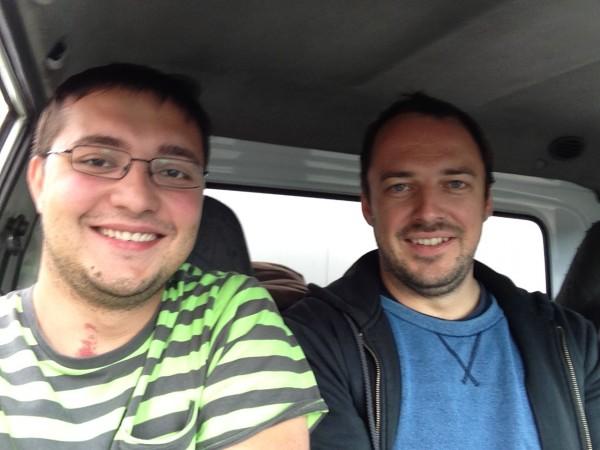 Уставшие, но счастливые, мы поехали на первый маршрут вместе с водителей