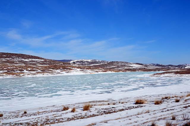 соленое озеро у Байкала