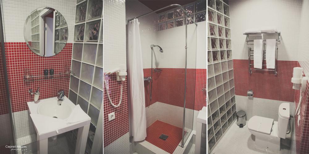 ванная комната в отеле Свежий ветер