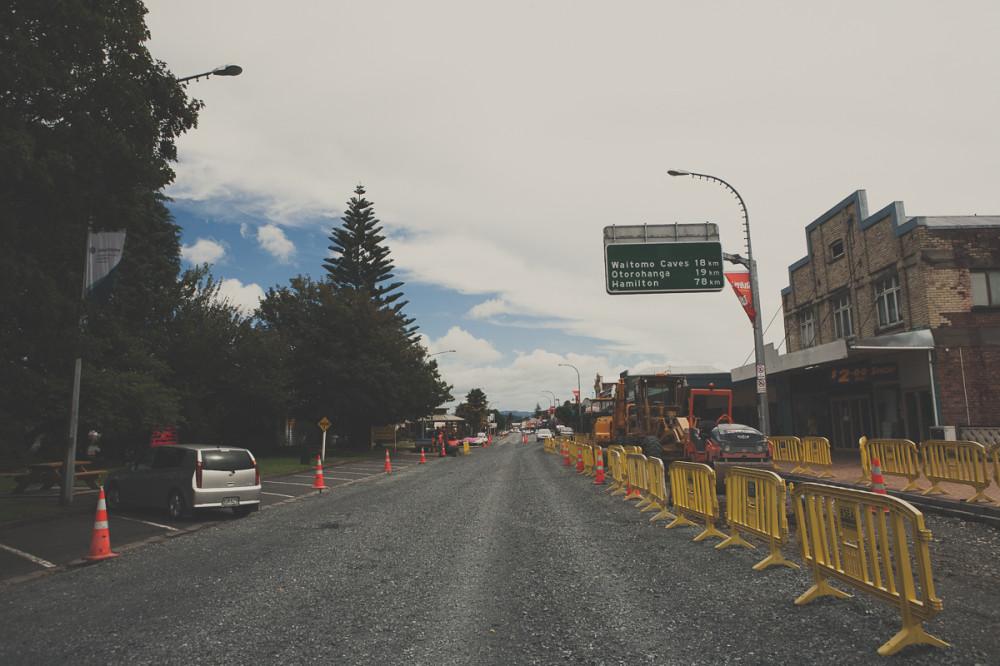 небольшой городок в Новой Зеландии