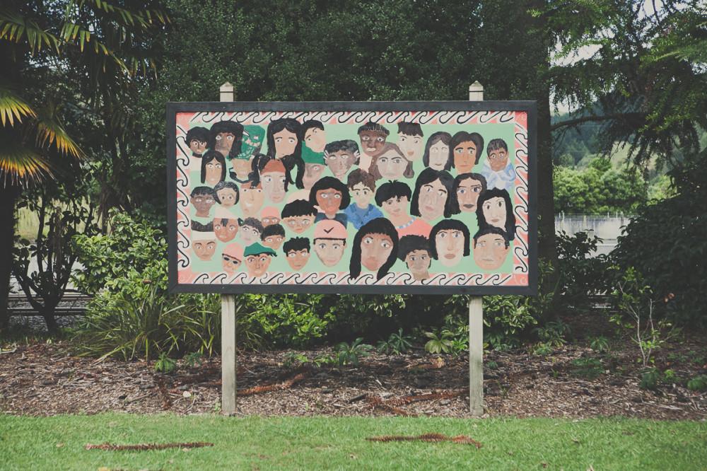 Плакат в городе - Новая Зеландия