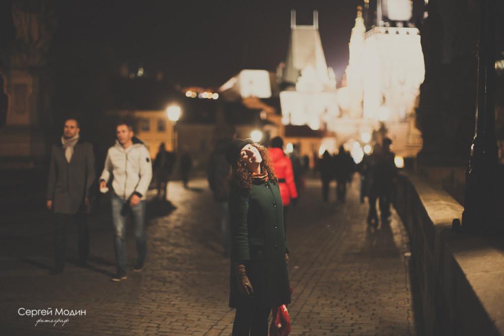 Наташа на Карловом мосту в Праге
