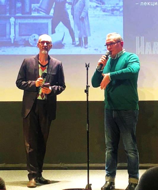 Со Славой Коноваловым - организатором показа