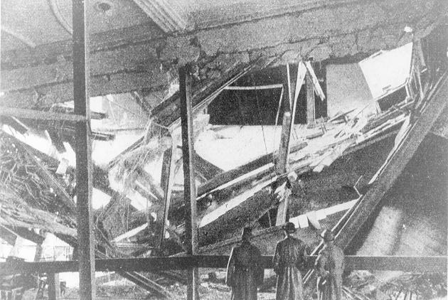 Разрушенный зал Бюргербрюкеллера