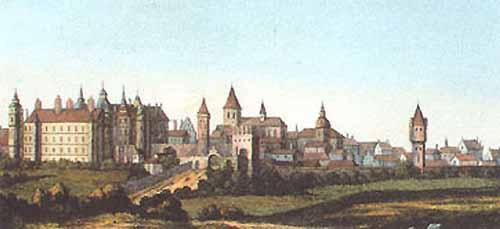 Вид города Гюстров. XVII век