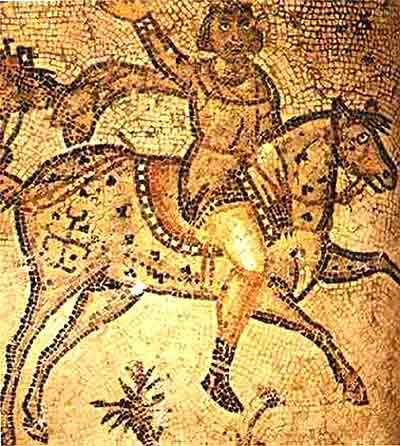 Вандальский всадник. Мозаика
