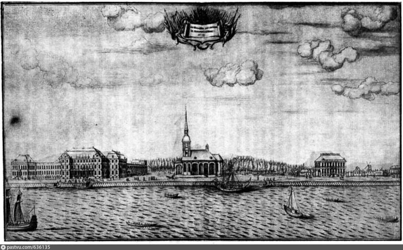 Вид на Васильевский остров. 1720-е годы