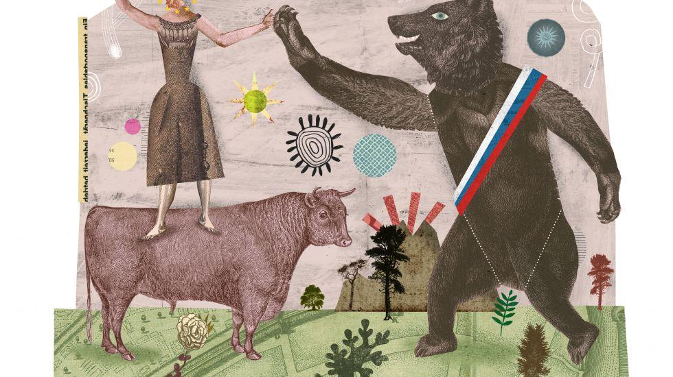 Русский медведь похищает Европу