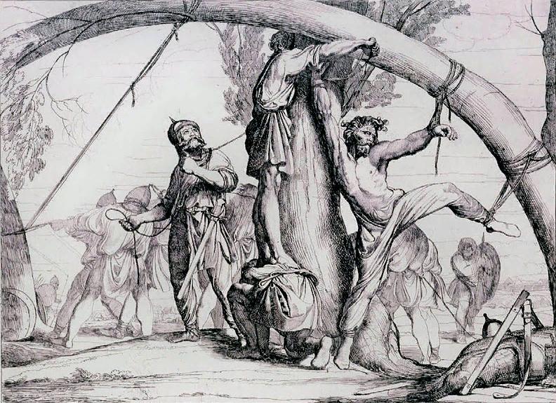 Ф.Бруни. Казнь князя Игоря древлянами