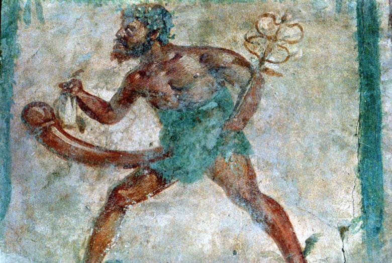 Фреска из частного дома в Помпеях с изображением Меркурия/Гермеса