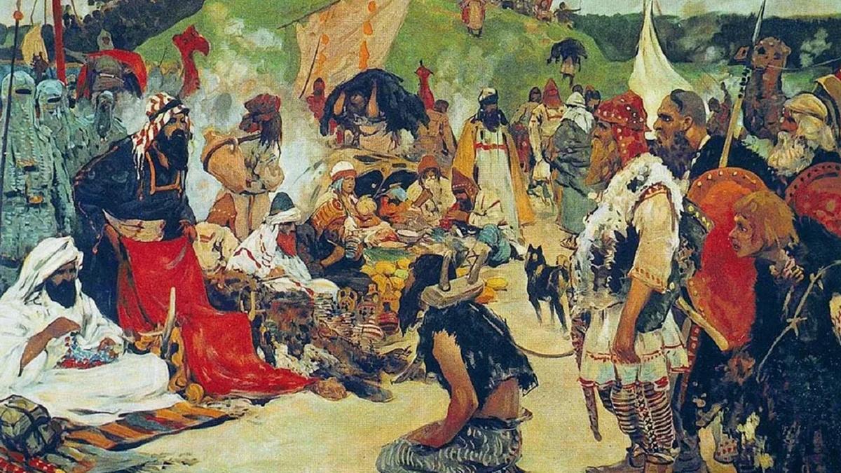 С.Иванов. Торг в стране славян