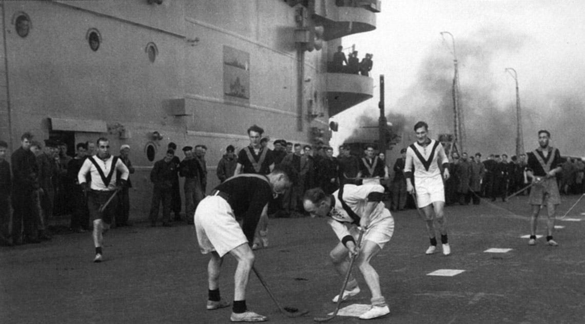 Ark Royal deck hockey