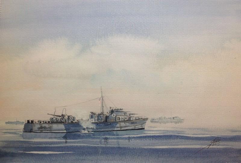 Jim Rae - Fairmile C class MGBs waiting for the mist to clear