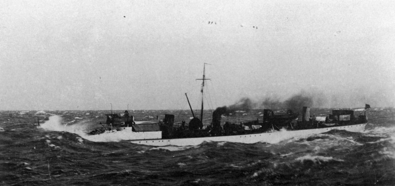 Banshee at Sea State 5-6 on Mediterranean c.1900-02