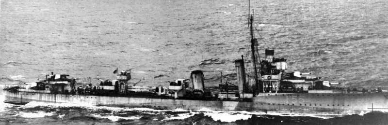 Vesper in late-1942 Western Approaches camo