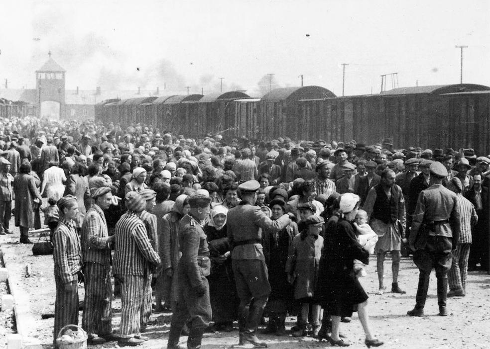 Освенцим - приезд партии заключённых