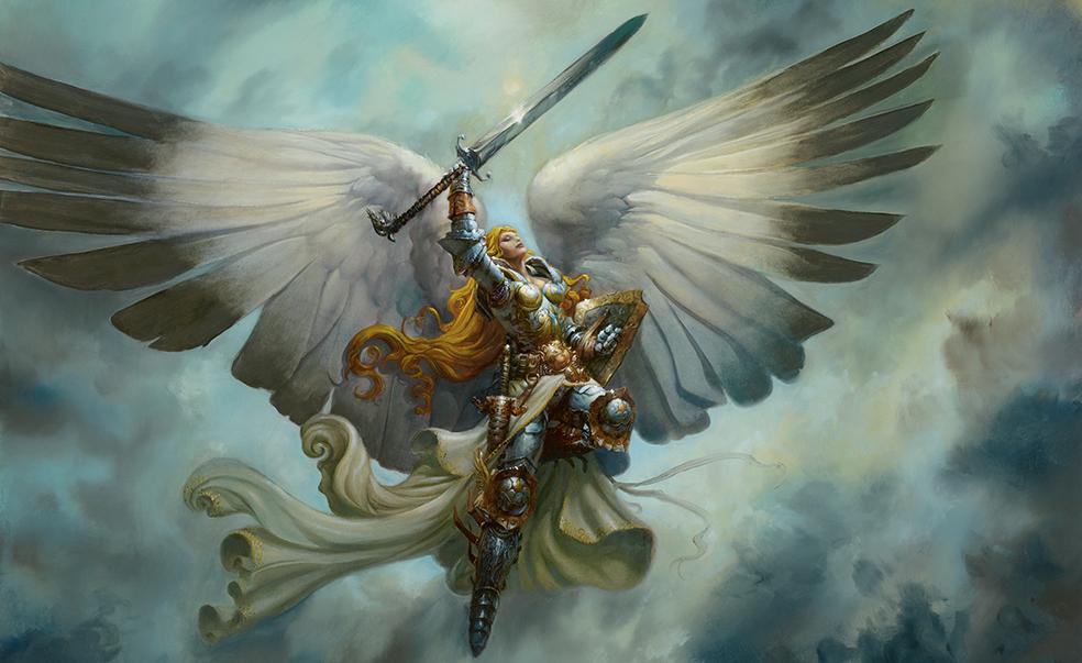 Небесный воитель на дельтоплане