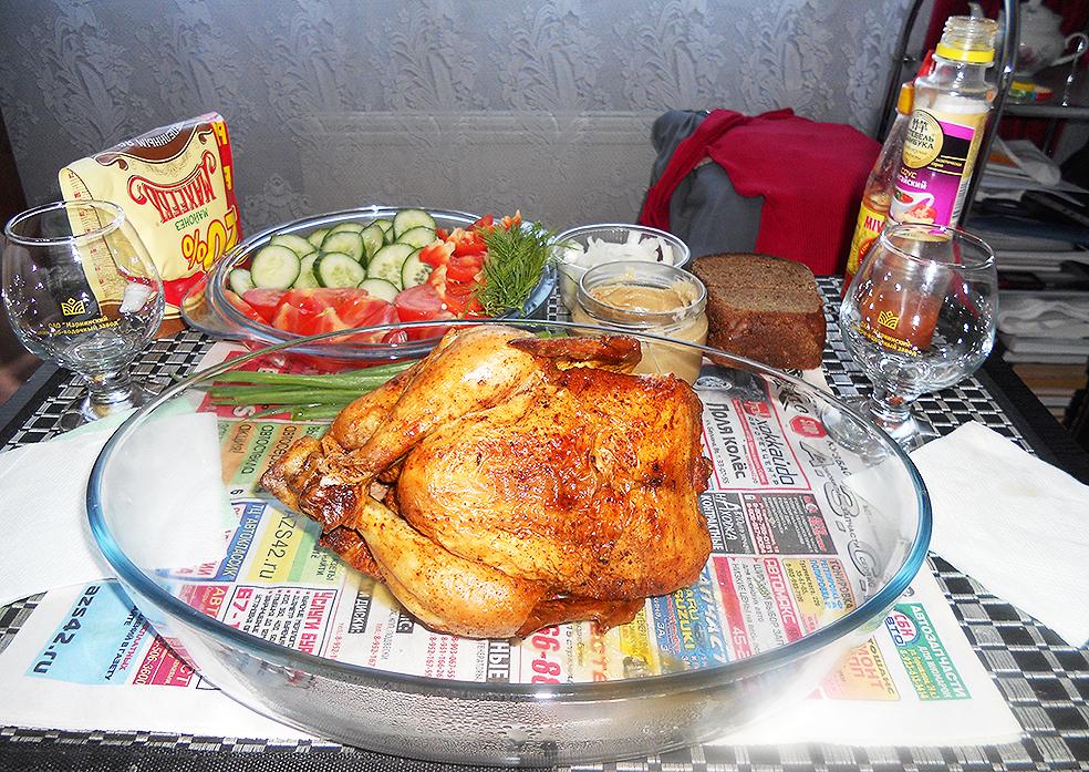 Куриное тело с овощным гарниром