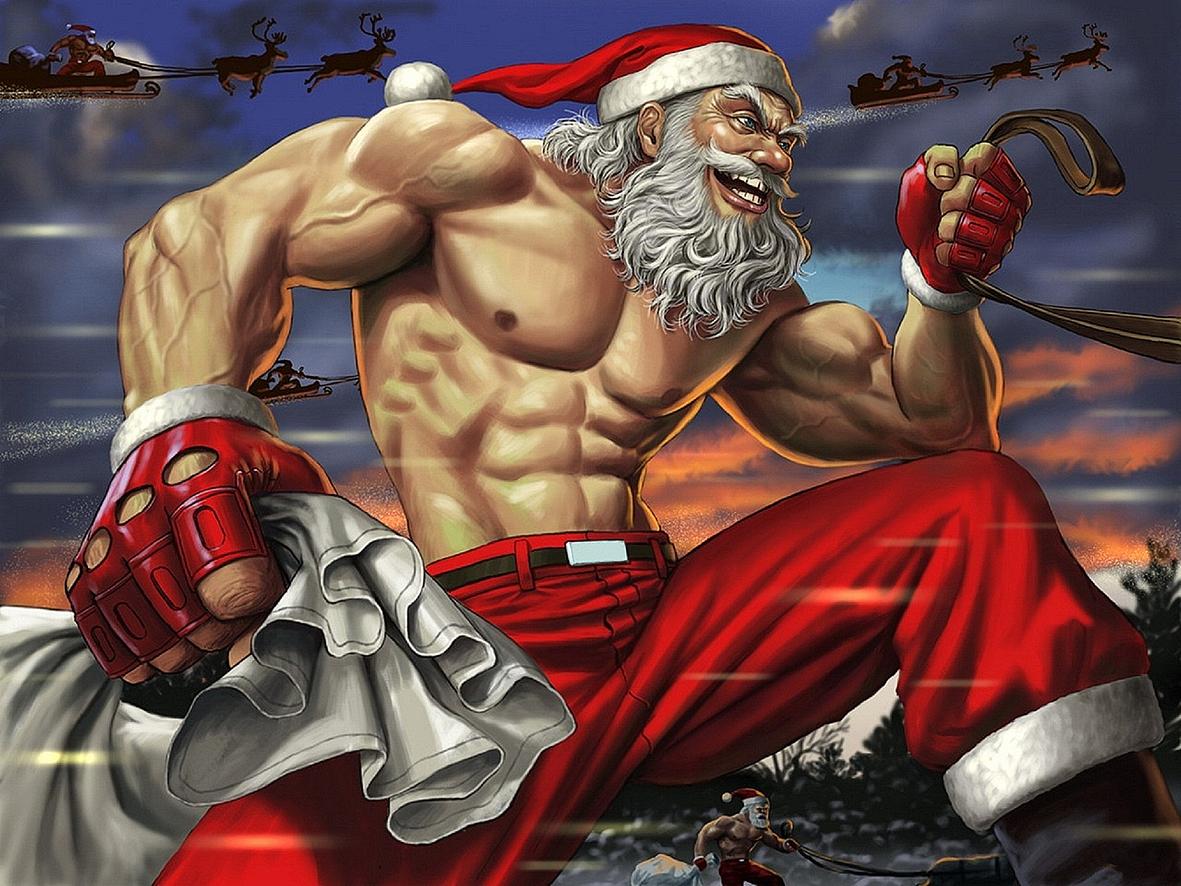 Брутальный Дед Мороз жжёт и ржёт