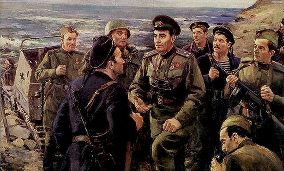 Политрук Брежнев пиздит с бойцами
