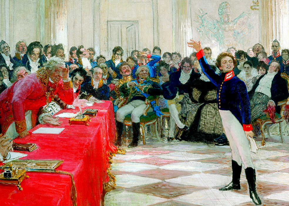 Пушкин чёто травит братве в хате