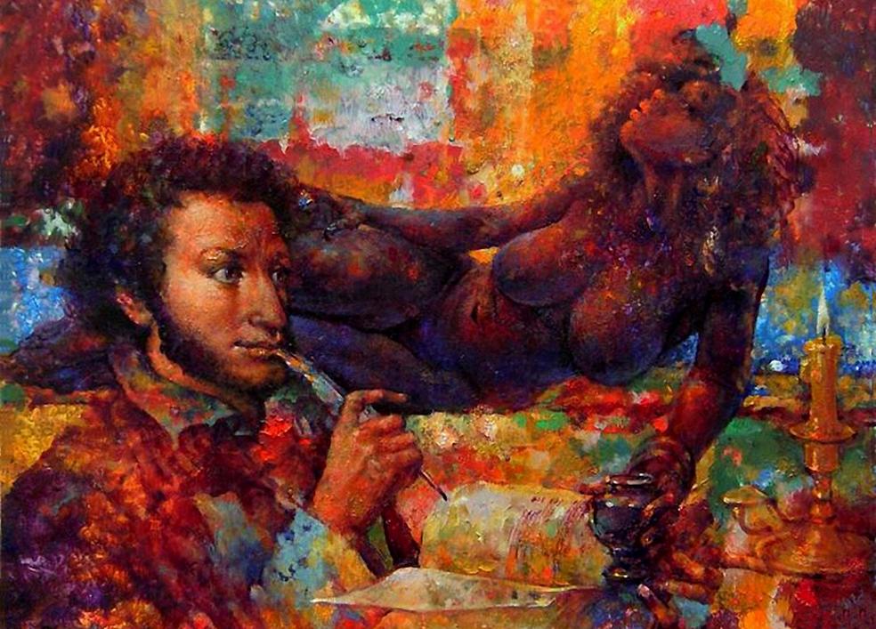 Пушкин и его чернильница