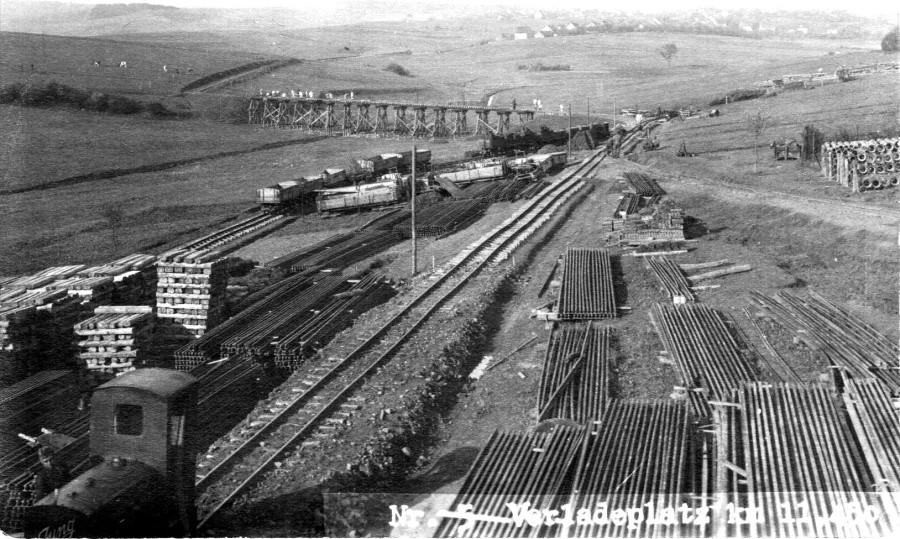 СтСтроительство военно-полевой узкоколейки Вермахтом в задонских степях в 1942 году