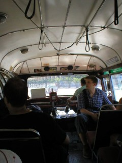 Inside of typical Malteese bus