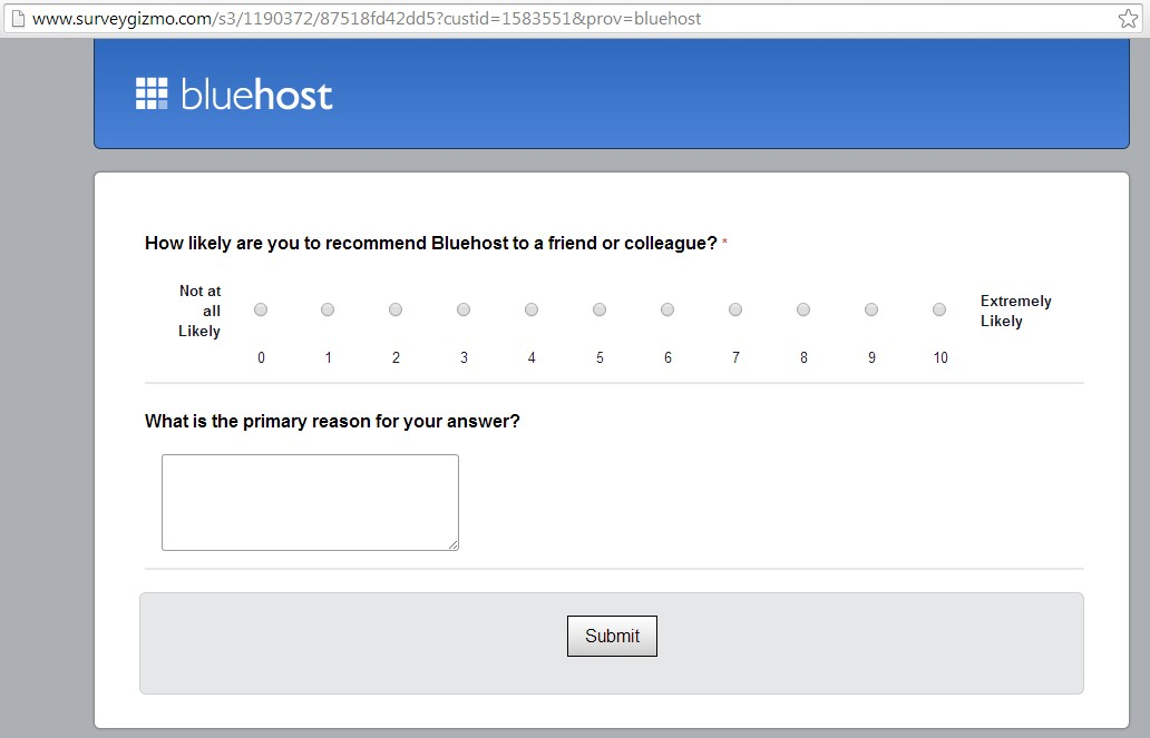 Bluehost NPS