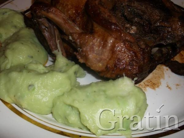 Зелёное картофельное пюре
