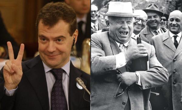 Медведев и Хрущёв