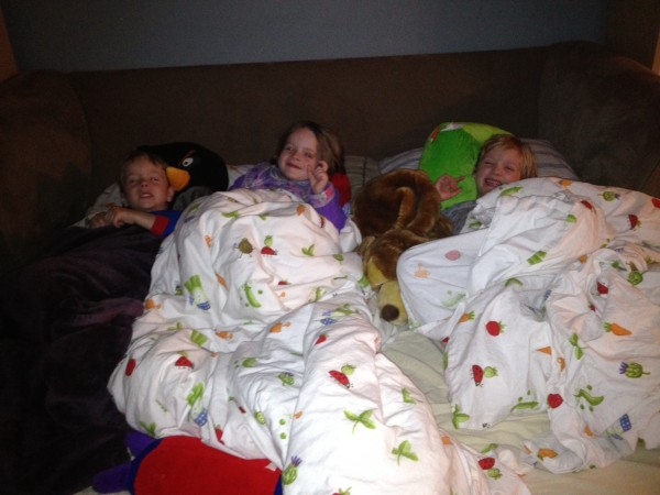Triplet slumber party, smaller